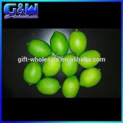 Online Wholesale Fake Limes Cheap Decorative Artificial Fruit with 8cm