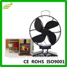 estufa de madera ventilador