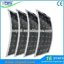 Marine semi flexible solar panel 20W 30W 50W with high quality