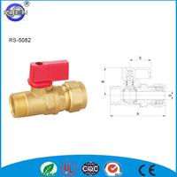 superior PEX-AL-PEX quick connecting Copper set cw614n brass valve