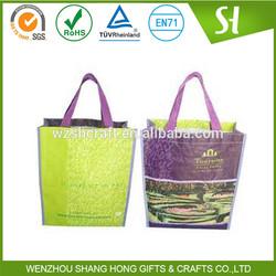 Most popular handling pp woven shopping bag