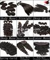 Brasileiro, mongol, da malásia, peruano, indiana virgem da extensão do cabelo todos texturas de cabelo