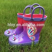 UK warm rain boots wellingtons for kid custom design rubber boots