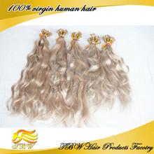 Remy Human Hair Pre Bonded Nail U Tip Keratin Glue Hair Extensions Blonde #24