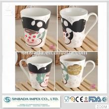 A grade ceramic coffee mug wholesale porcelain material ceramic color changing mug
