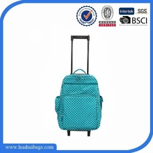 2014 Hot Selling cute dot trolley luggage for girls
