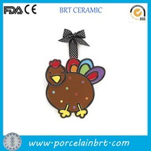 Thanksgiving birthday gift turkey Hanging Ornament Ceramic