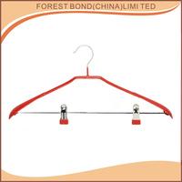 wholesale pvc coated metal hanger with Wide shoulder