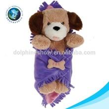 Newborn cute dog toy animal head plush soft stuffed handmade baby blanket pattern