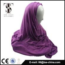 wholesale plain color muslim scarf jersey snood