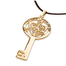 Yiwu Aceon 316L stainless steel Gold Plated Key of Success Pendant