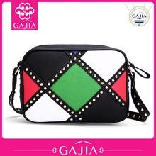 Hot new products for 2015 korean colorful shoulder bag lady rivet fashion mini bag