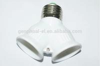 Converters double E27 lampholder two E27 screw