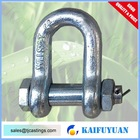 heavy duty safety pins US Type Bolt Dee Shackle, Rigging Hardware Shackles