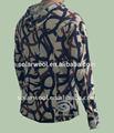 De lana con cremallera 1/4 caza t camisa para los hombres