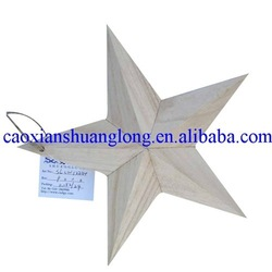 hot sale nude wooden stars wholesale