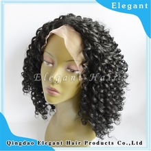popular black curly synthetic hair lace front wig wholesale china factory make afro wig