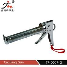 China hardware 310 ml chrome plate caulking gun/construction glue gun