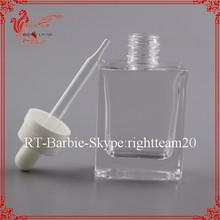 empty round 15ml red vapor oil glass bottles e cigarette glass dropper bottles 15ml
