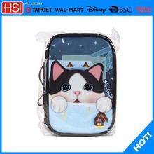 2015 fashion gray cute cat silicone cosmetic travel bag,bag cosmetic bag
