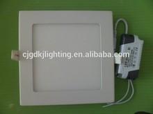 Wholesale price ultra-thin Square led panel light 6-18w RA> 80 led lamp UL dimmable led flat panel