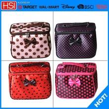 four bow designs professional aluminium makeup case,professional beauty box makeup vanity case