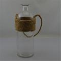 Corda de cânhamo pendurado vaso, Barato vasos de flores de vidro