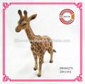 2015 nueva llegada de talla de madera jirafa