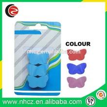 TPR Butterfly Shape 2D Eraser in Blister Card/Animal Shape Eraser