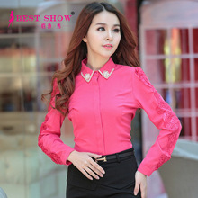 Hot New Products For 2015 Woman Tops Elegant Ladies Blouse Fashion Blouses Online Shopping For Wholesale Clothing 5353