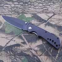 Stainless steel Double edged hunting knife with aluminium handle