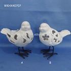 Home decoration white ceramic bird figurine