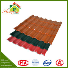 Good quality sound insulation asa coated synthetic resin roof tile