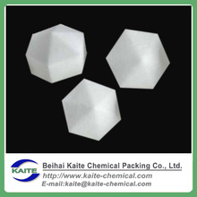 Hexa-cover solid ball, hexagonal covering ball for water treatment