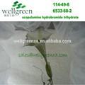 De calidad superior de 10 años de experiencia en la fabricación de puro 99% cp cas 6533-68-2 hindúes datura extracto de flor de bromhidrato de hioscina