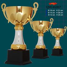 factory custom metal gold plating award sport trophy for promotional