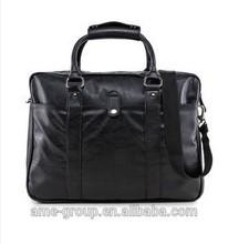 2015 Stylish Leather Look Mens Black PU Work Bag