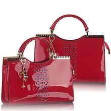 manufacturing companies vietnam shiny pu market bag tote /shoulder bag SY5955