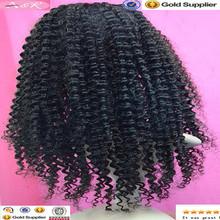 Brazilian virgin lace front human hair wigs kinky curly wig