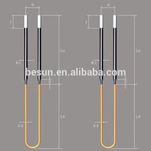U Shape Mosi2 Heating Elements, Max. 1800C