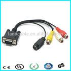 3+5 wiring diagram vga rca audio &video cable