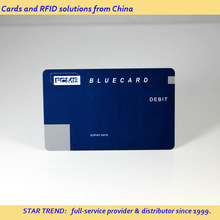 Preprinted plastic magnetic stripe card with customised signature as debit card - bank card ISO7811 CR80