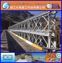 China CB100, 321-DDR, small steel bridges, Prefabricated Bridges, bailey bridge to Iraq