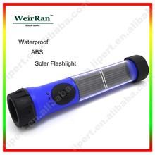 (120221) Portable handheld rechargeable waterproof emergency led solar flashlight