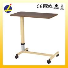 Medical steel hospital over bed table JL562