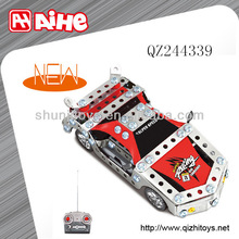 Metal toy car assembly kit mini remote control car rc construction toy