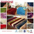 de la manera buena mejor diseño de venta precio competitivo brillante de poliéster shaggy alfombras