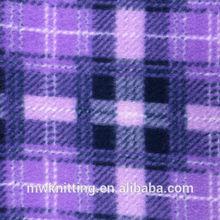 Tongxiang Mingwei 100% polyester plaid polar fleece fabric with fire retardant