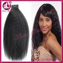 wholesale good quality free tangles factory virgin brazilian yaki hair 100% human hair silky yaki perm weave