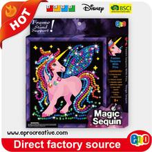 EPRO CA9517F fun activity kit, unicorn design sequin craft art